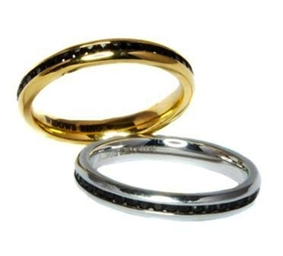 FOREVER Widow's 3rd Ring Add to the wedding rings to