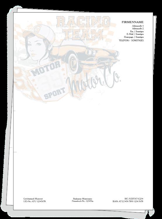A4 Briefpapier Design Vorlage Kostenlos Im Webshopbriefpapier
