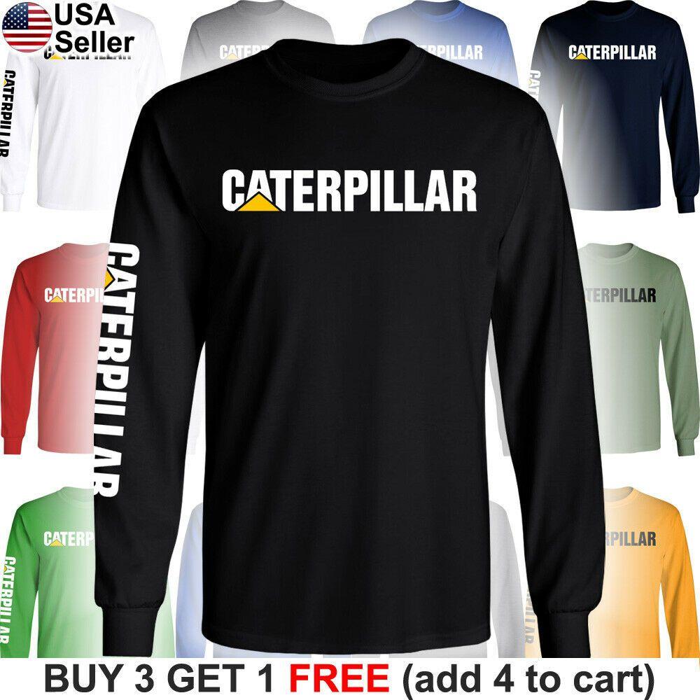 Caterpillar T-Shirt CAT Logo Tractor Equipment Men Bulldozer Construction FR