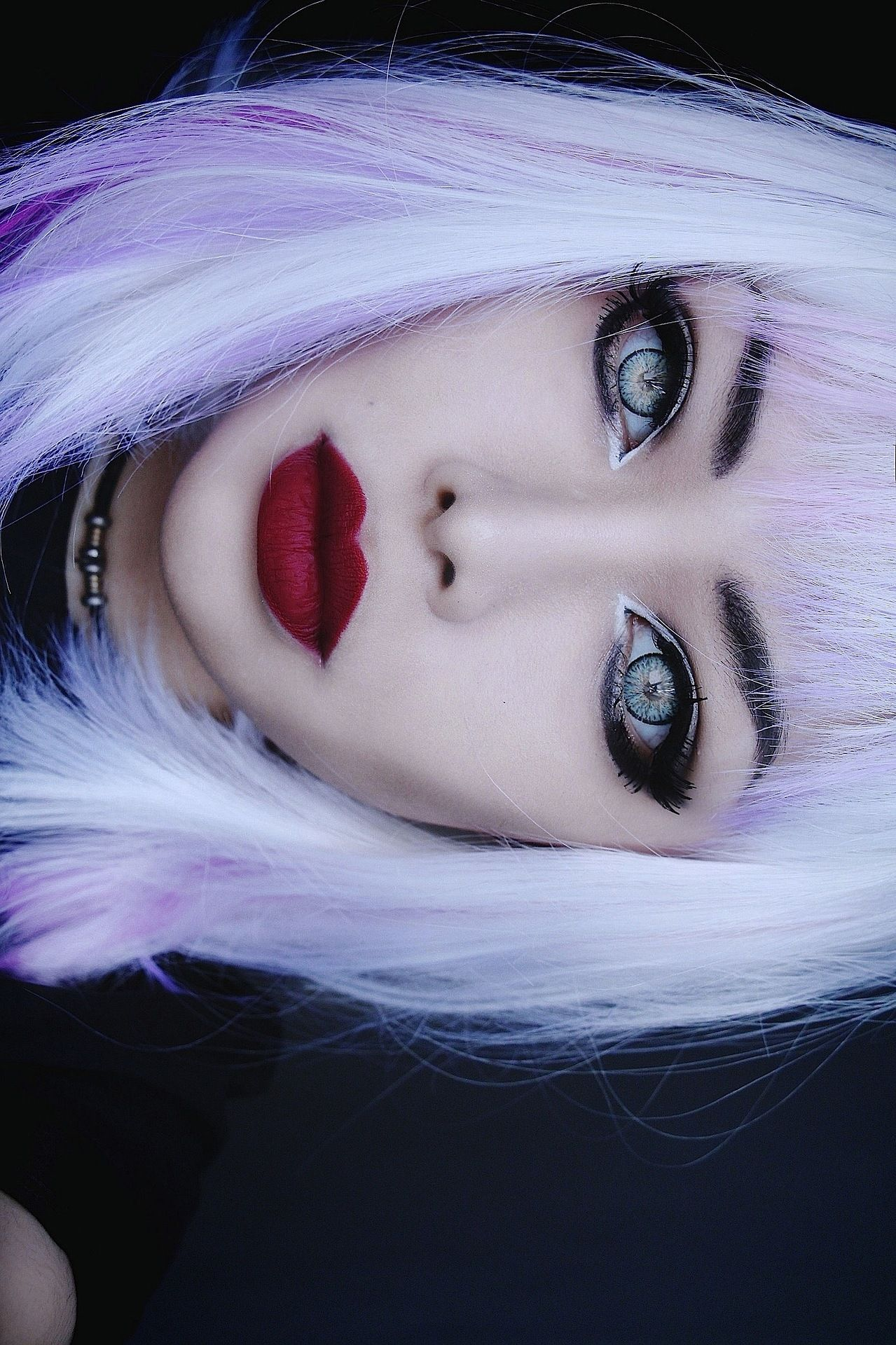 Colorful Hair #coloredeyecontacts