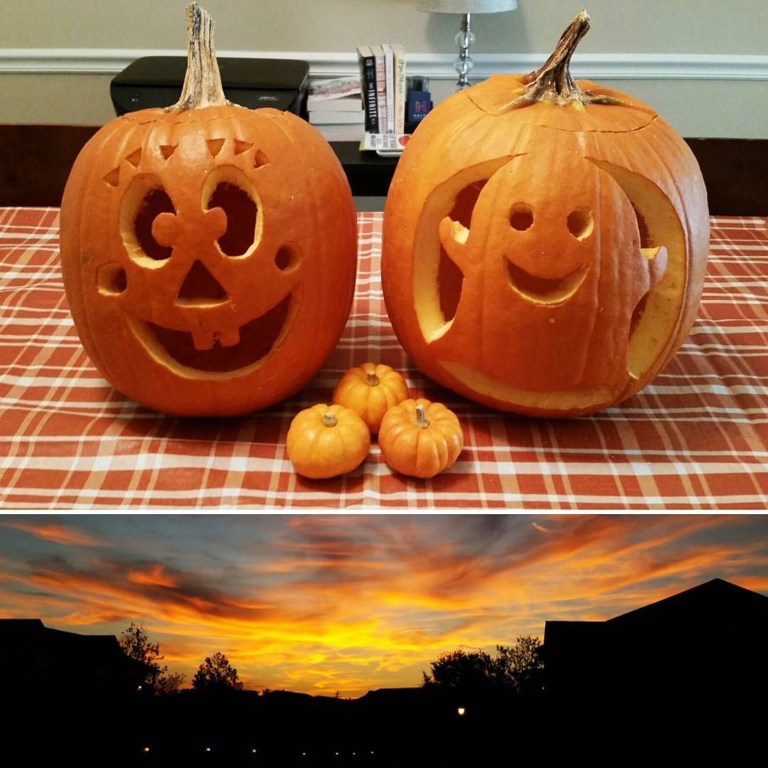 Here are the pumpkins my sister and i carved hope everyone has a