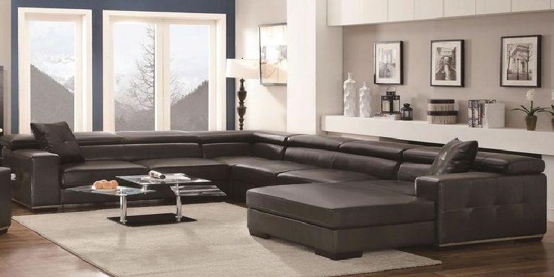 Italian Leather 7 Seater Sectional Sofa