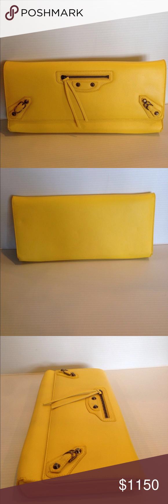 Balenciaga Classic Envelope Clutch Bag Brand New 100% Authentic Balenciaga Classic Envelope Clutch Bag Balenciaga Bags Clutches & Wristlets