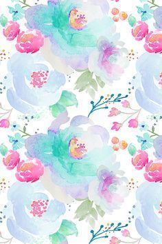 Colorful fabrics digitally printed by Spoonflower - Indy Bloom Design Floral blues