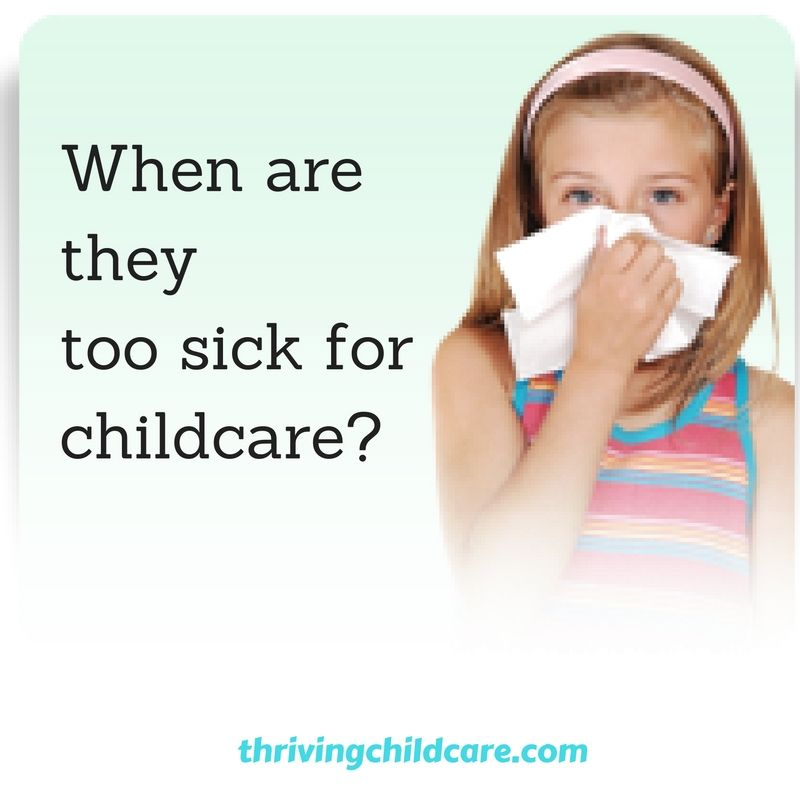 YOUR POLICIES: Sick and Illness Policy for Childcare ...