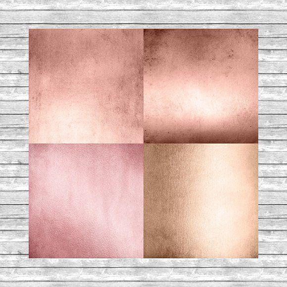 Rose Gold Digital Paper Textures Fivestar Color In