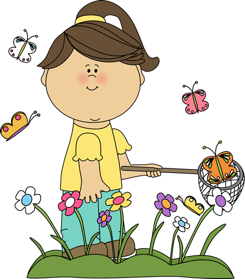 spring clip art girl catching butterflies clip art image girl rh pinterest com spring clipart pictures spring break clipart images