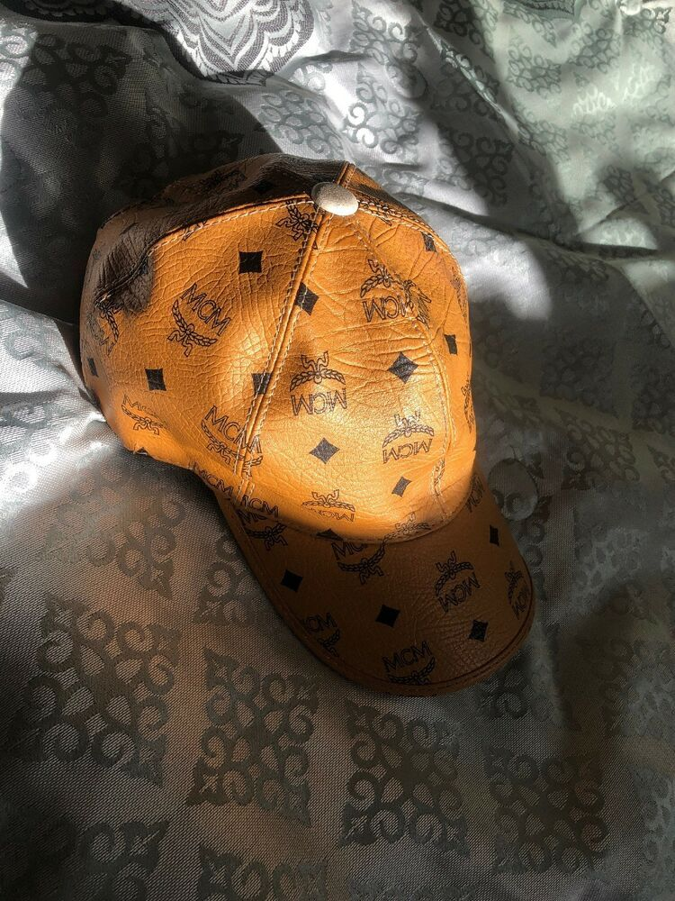 316636c295937 MCM Cognac Visetos Brown Leather Baseball Cap Hat  fashion  clothing  shoes   accessories  mensaccessories  hats (ebay link)