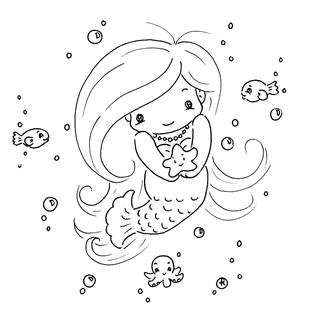 Mermaid Coloring Pages With Images Mermaid Coloring Pages