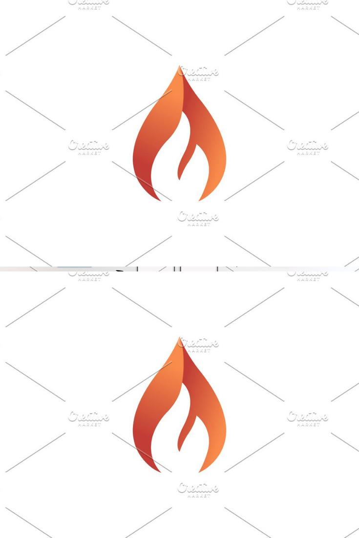 Fire logo. Elegant flame logotype Logos design, Hub logo