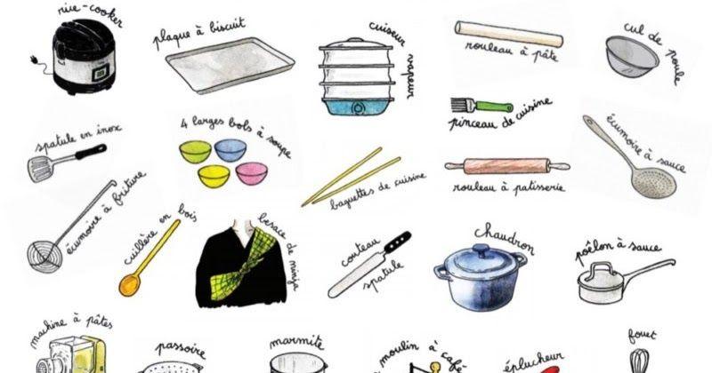 ادوات المطبخ بالفرنسية صور جميلة وقابلة لطباعة Tools