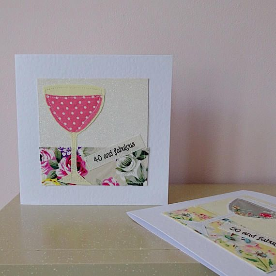Woman 50th 40th Birthday Card Wife 50 40 And Fabulous Woman 40th