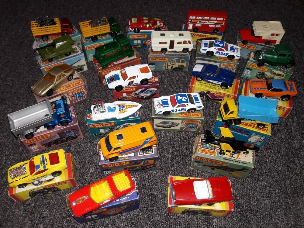Vintage Matchbox Lesney Car Lot of 23 From 1970s and 1980s