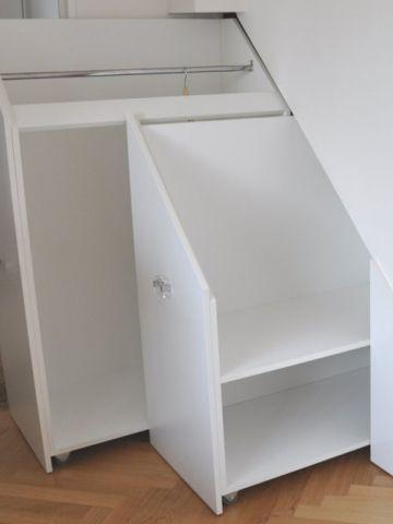 rangement chaussures sous escalier great fabriquer un meuble sous escalier meuble en carton. Black Bedroom Furniture Sets. Home Design Ideas