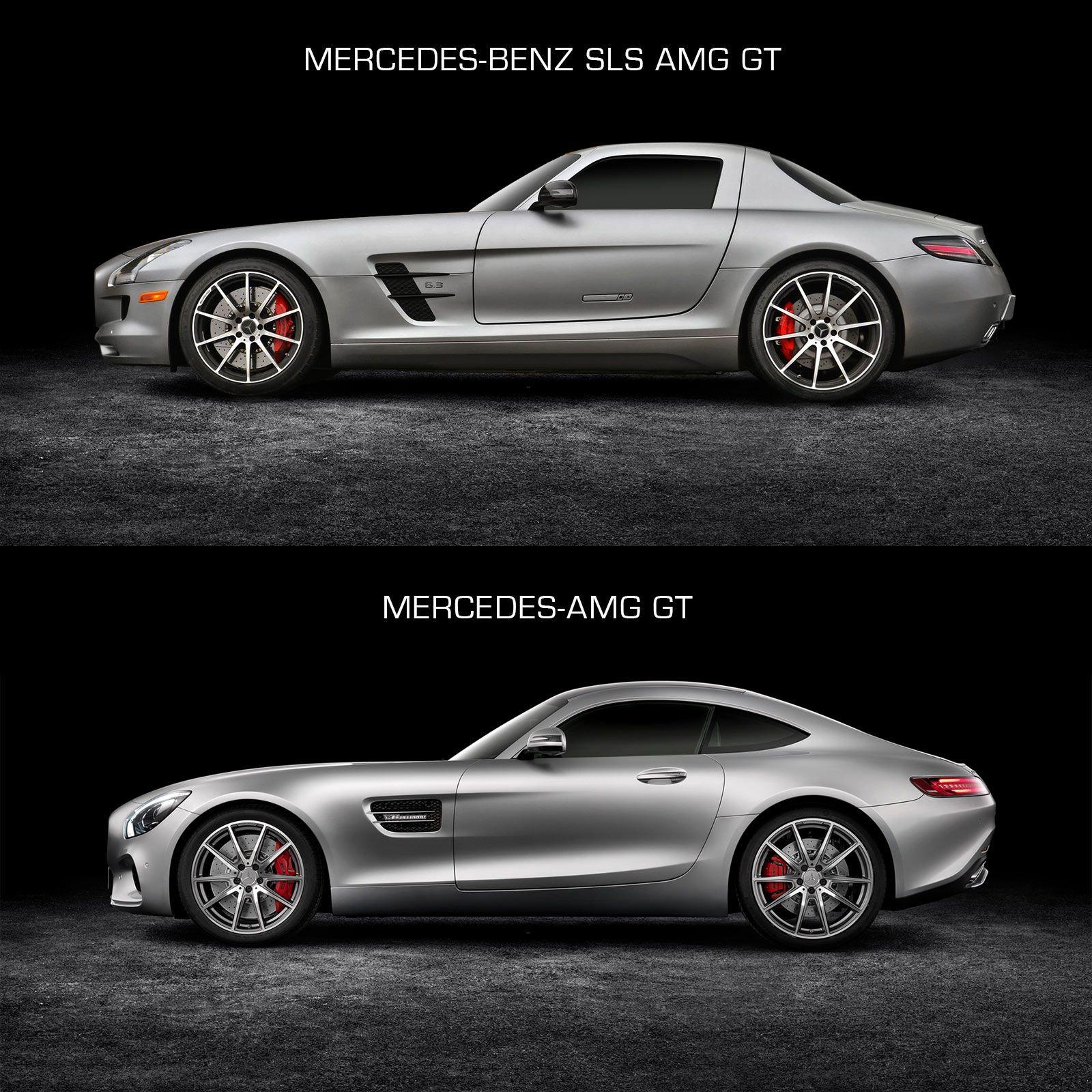 Mercedes Benz Sls Amg Gt And Mercedes Amg Gt Design Comparison