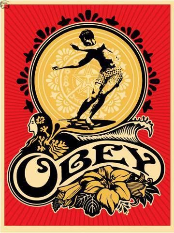 """Hawaii Skater"" by Shepard Fairey. Love this print. #Obey #ObeyGiant #ShepardFairey #skateboarding"