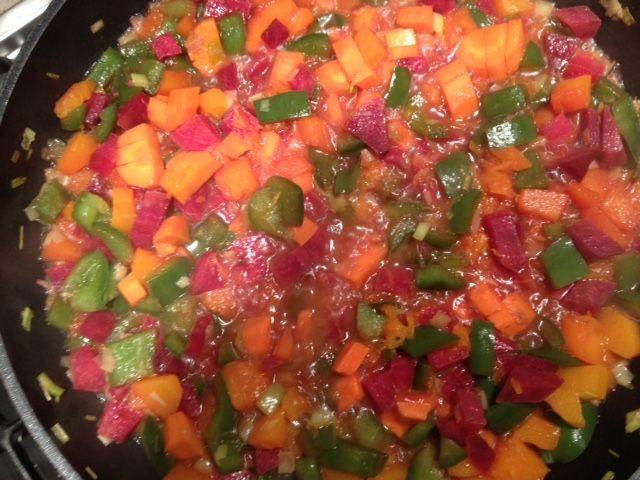 Verdure: porro, carote, zucca, peperoni, rapa