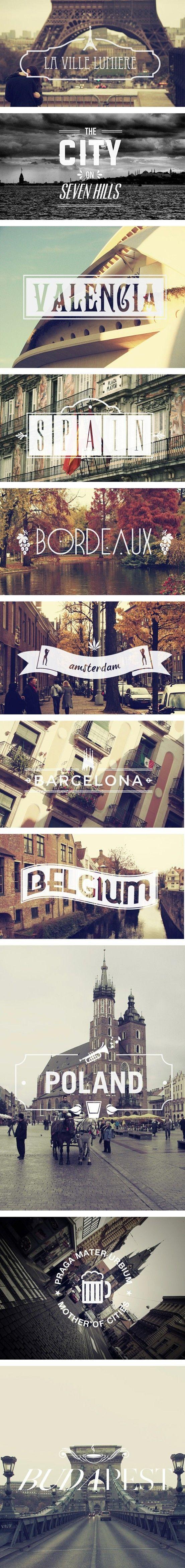 Europe via graphism.fr via indulgy #Travel #Europe #Cities