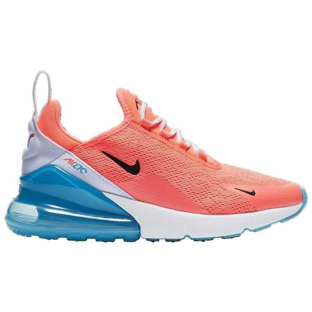 Nike Air Max 270 Lava GlowBlackWhiteBlue Fury Pink Sea