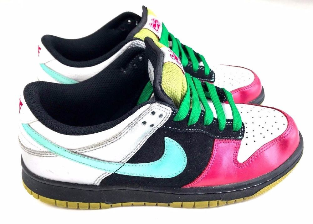 wholesale dealer c28f7 64d25 Nike 6.0 Dunk Low Womens Skate Shoes Pink Turquoise Green White Color Block  Sz 8  Nike  AthleticSneakers