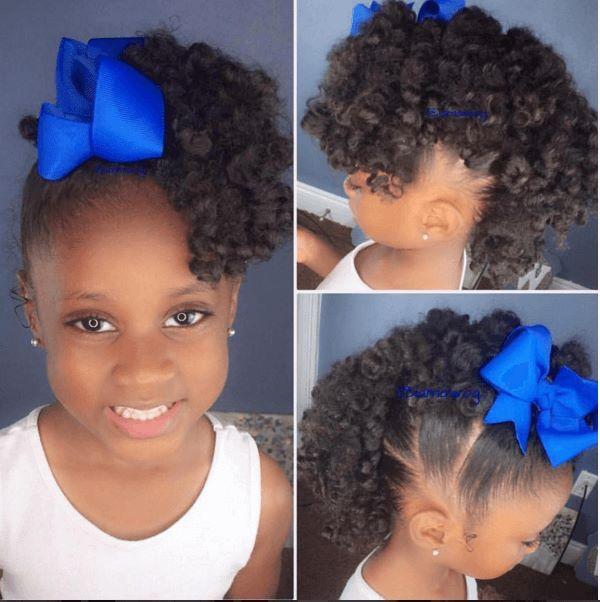 Super Cute Curly Frohawk Kids | Baby girl hairstyles, Natural hairstyles for kids, Kids hairstyles