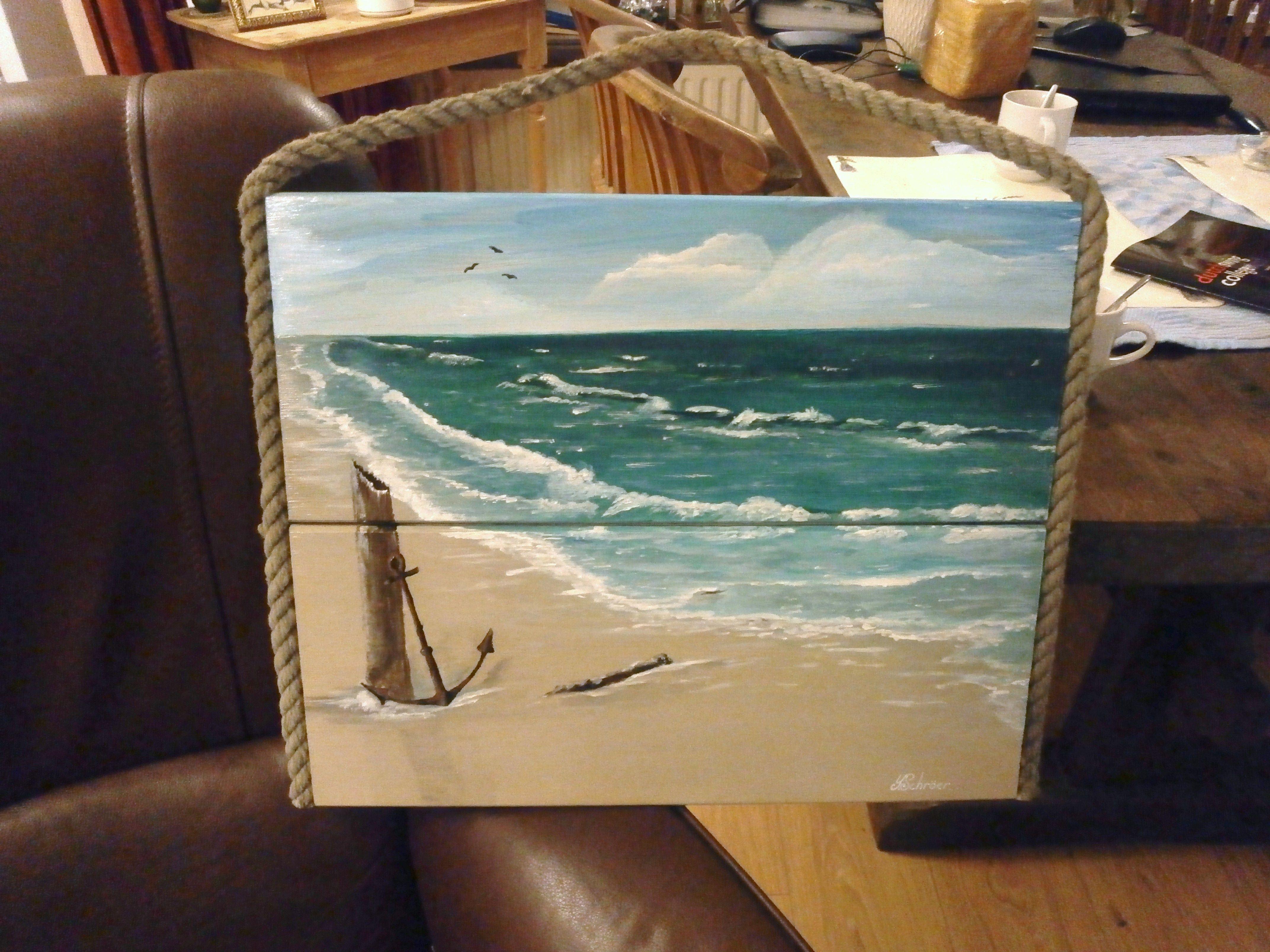 Welp Acrylverf op hout 0.40.x 0.50 . geschilderd door Yvonne Schroer YK-51