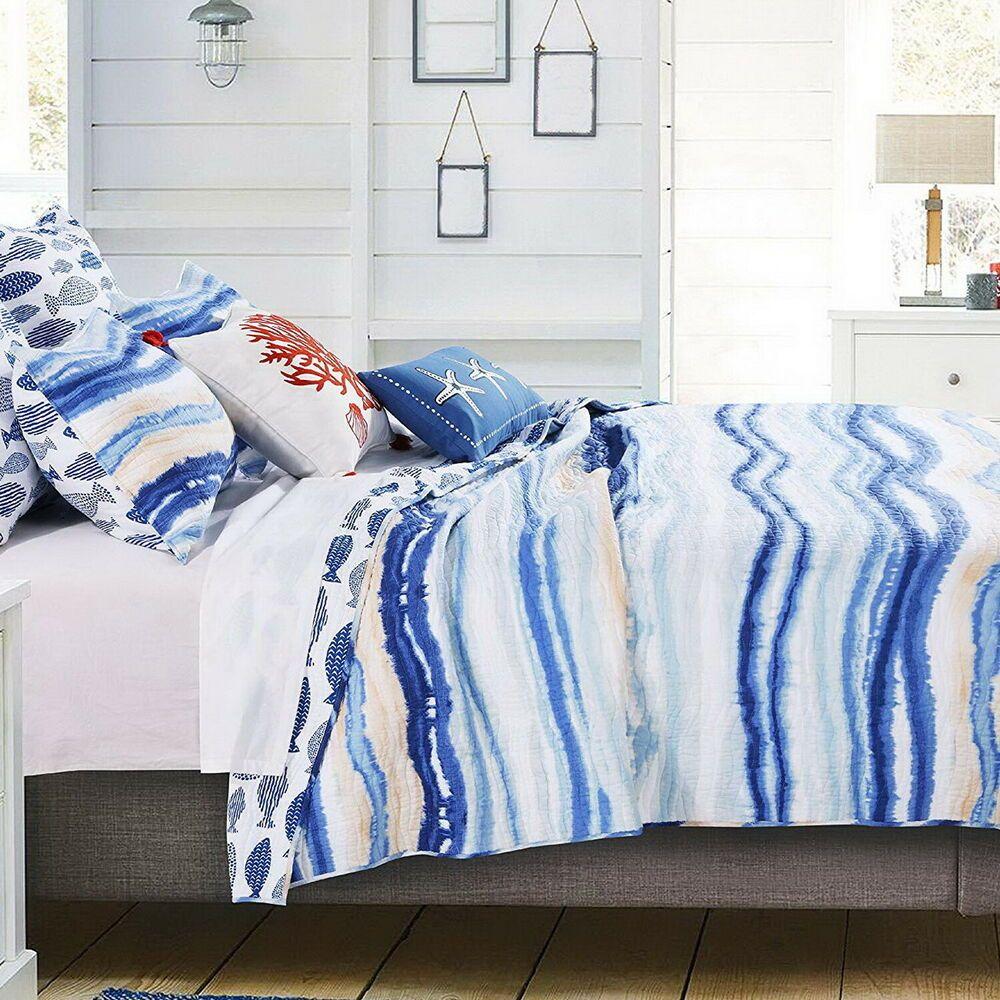 Beach Coastal Tropical Ocean Sea Waves Fish Blue White Nautical