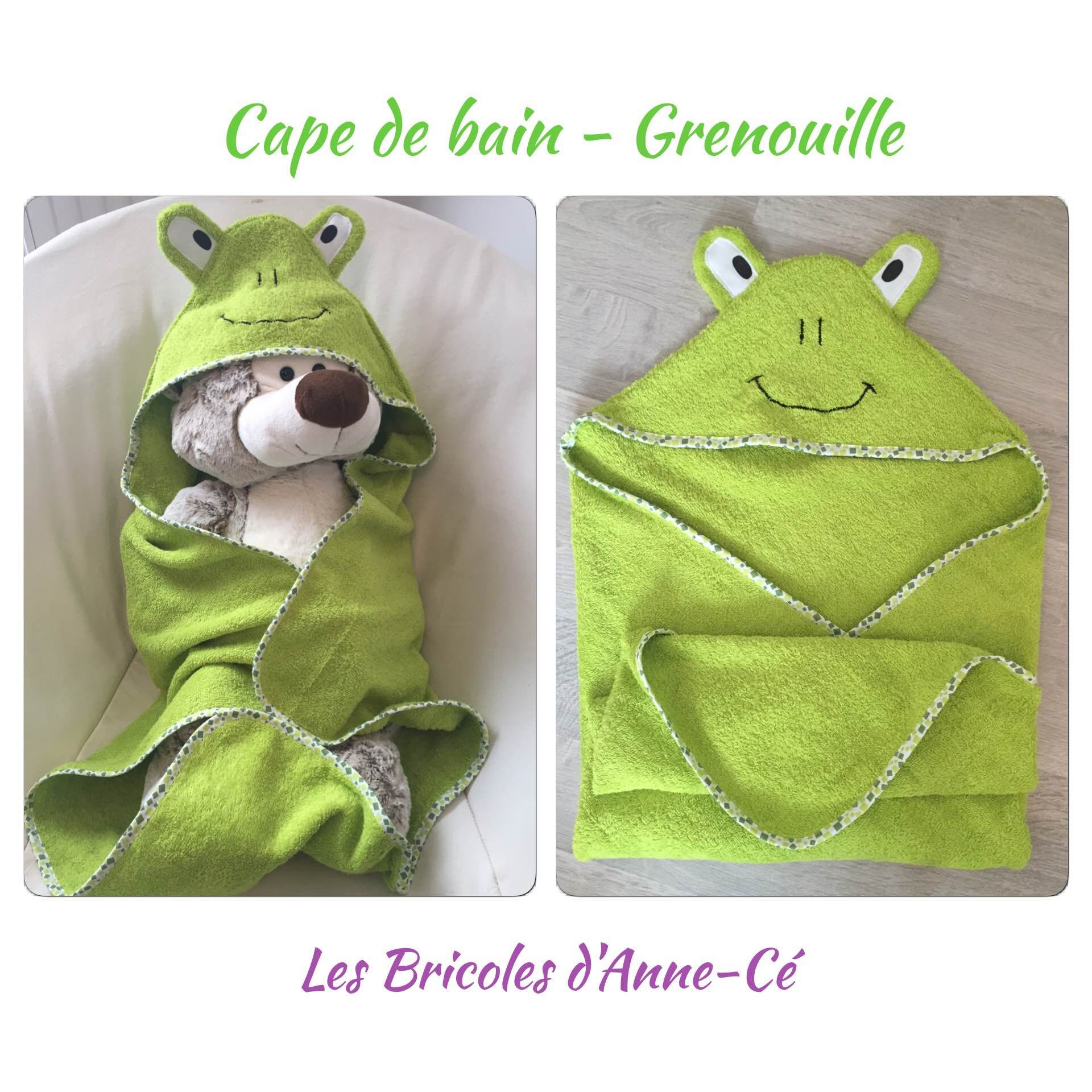 tuto cape sortie de bain grenouille les bricoles. Black Bedroom Furniture Sets. Home Design Ideas