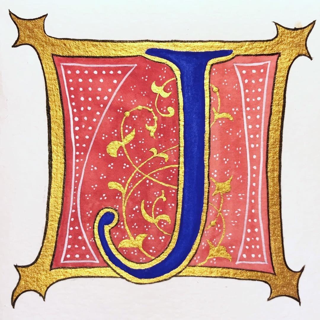 """Illuminated letter """"J"""". #lettering #letters # ..."""