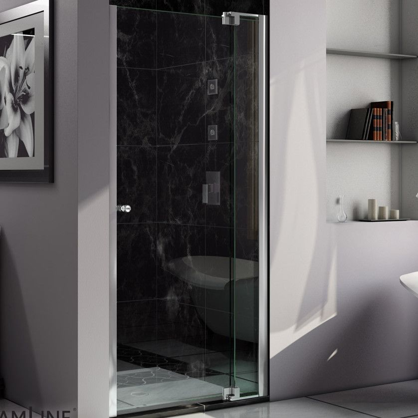 "Allure 36"" x 73"" Pivot Frameless Shower Door"