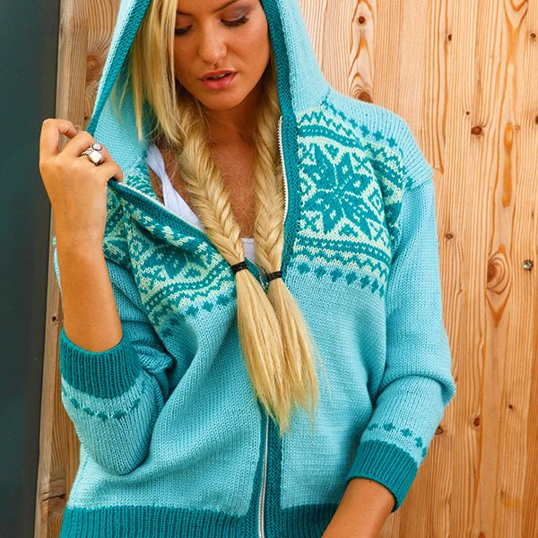 Lurleen, a Fair Isle Hoodie Knitting Pattern in Merino Double knit ...