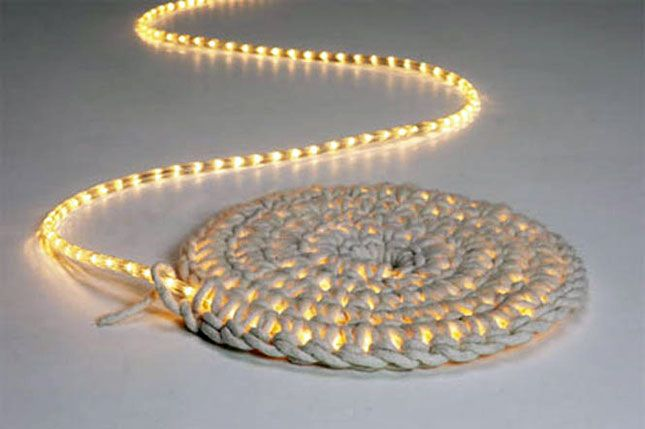 Bright White Carpet Light What Do You Get When Combine A Diy Knotted Rug