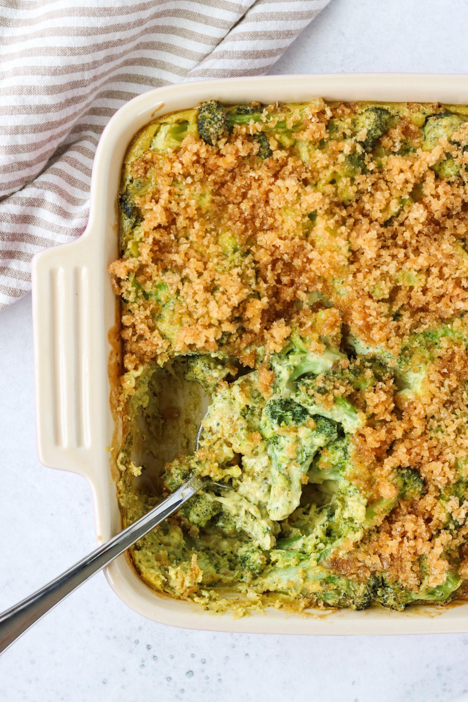 Dairy-Free Cheesy Broccoli Casserole {Whole30} Thi