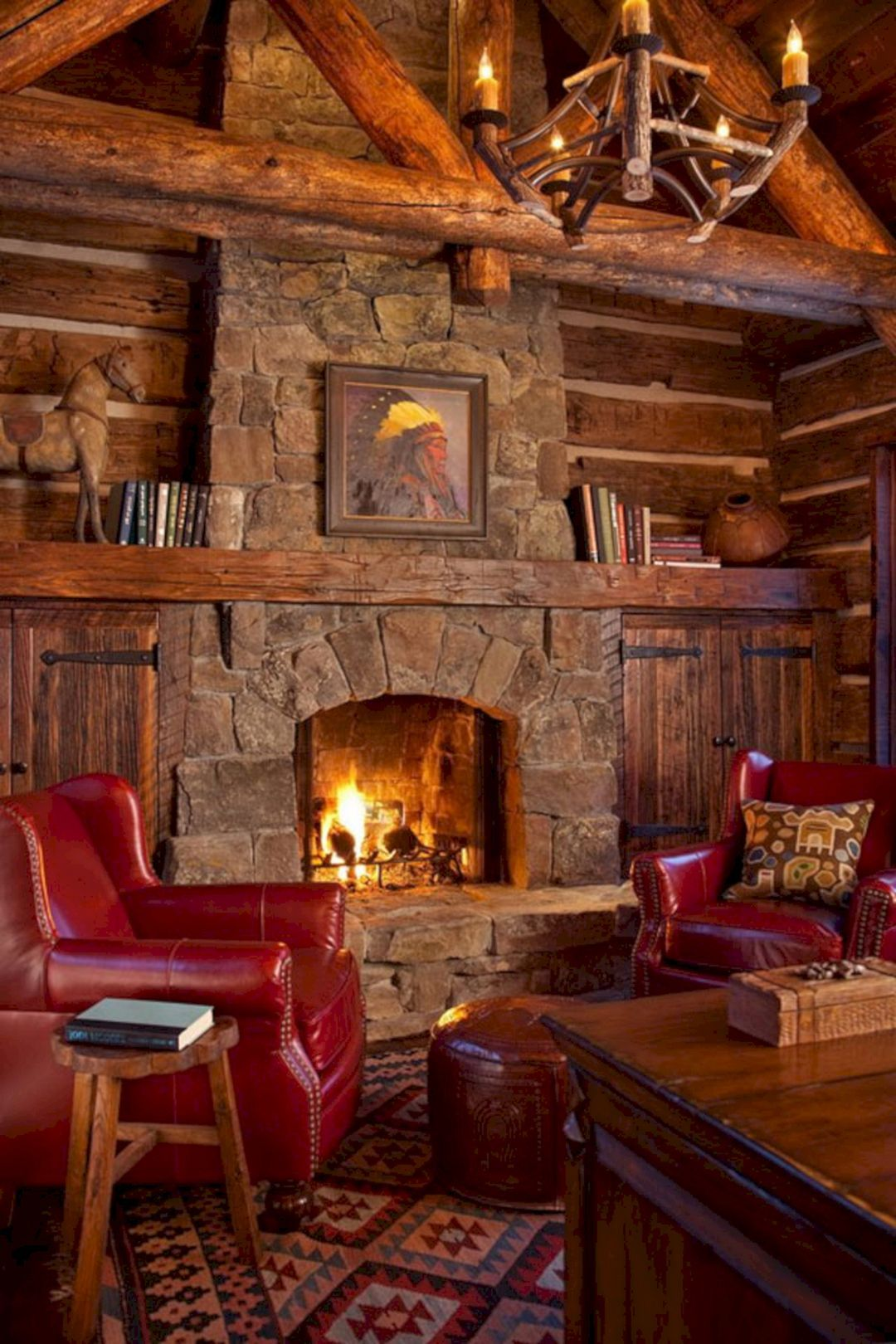 49 superb cozy and rustic cabin style living rooms ideas