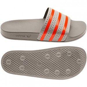 9904b929a50897 Adidas Originals Summer Men s adilette Slides collegiate silver bliss vivid  red