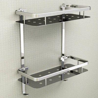 Modern Senior 304 Stainless Steel Silver Bathroom Shelf Corner Basket Rack 2 Layer Triangle Bathroom Acce Washroom Design Bathroom Shelves Bathroom Accessories