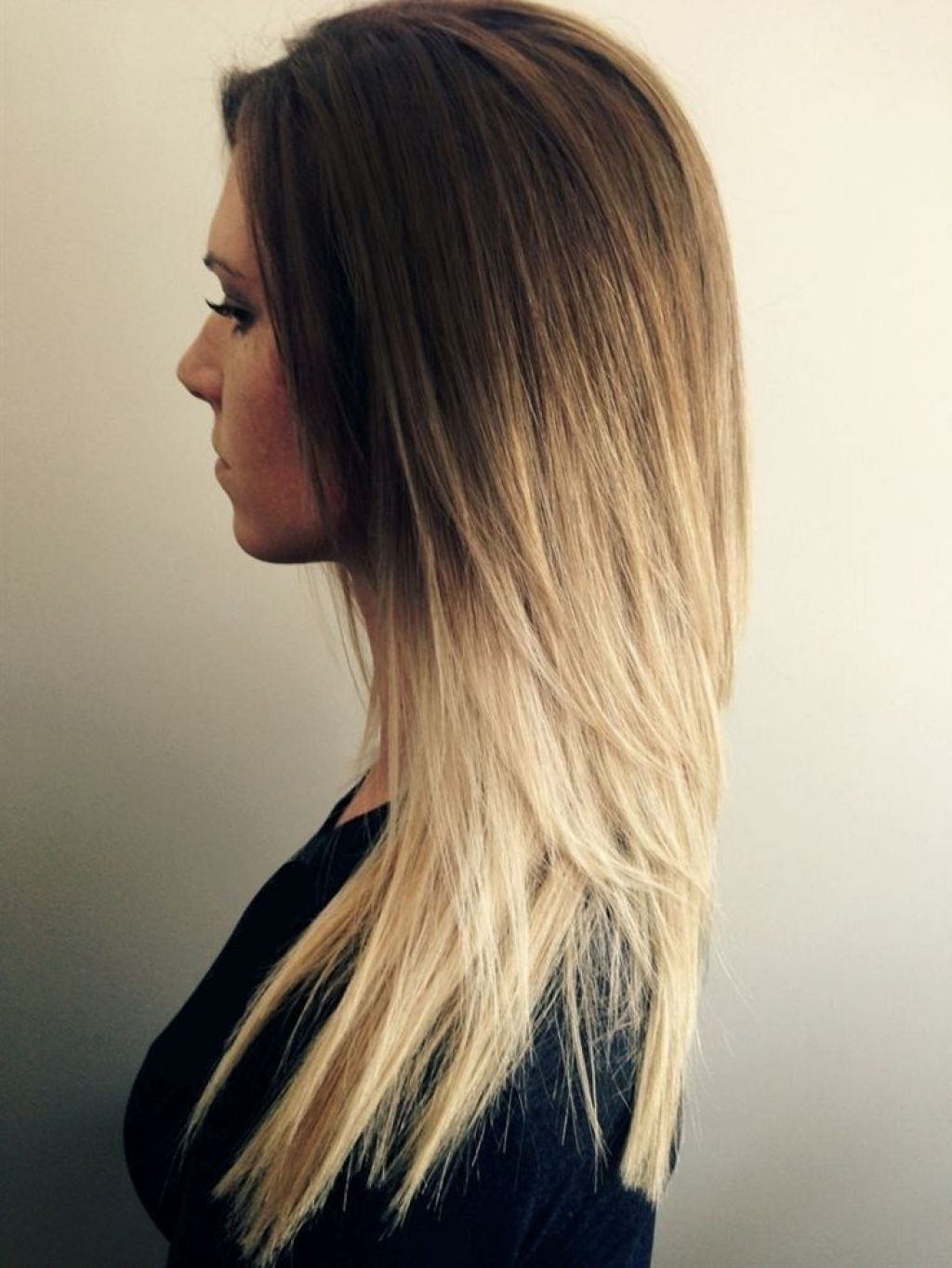 long hair trend cute ombre