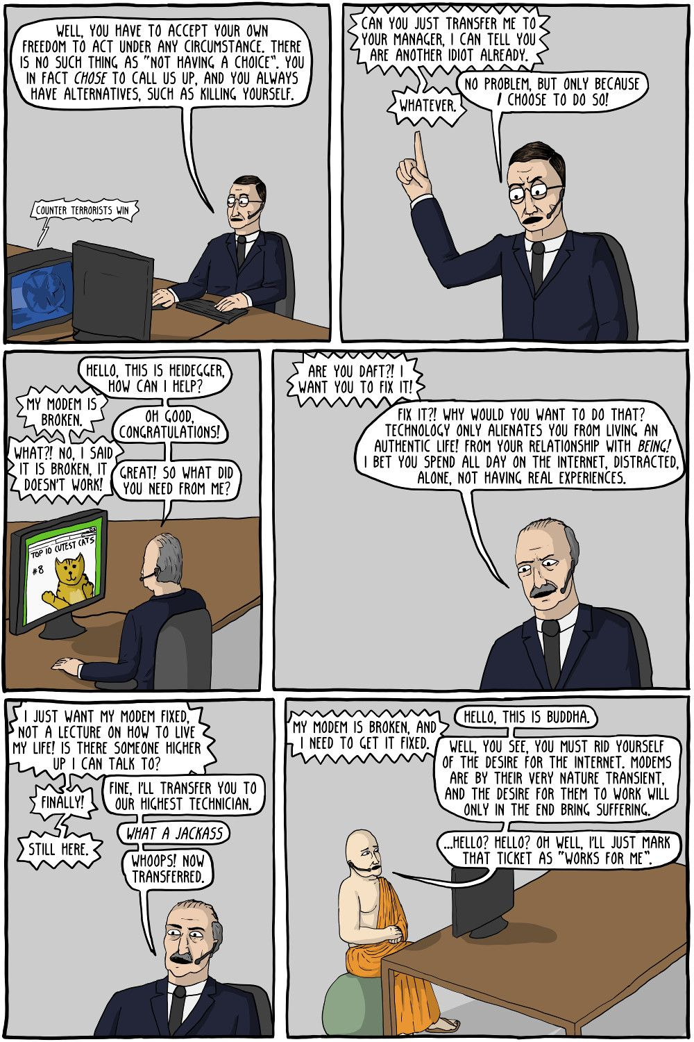 Philosophy Tech Support Existential Comics Philosophy Told You So Critical Theory