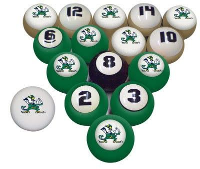 Notre Dame Fighting Irish Licensed Billiard Pool Balls 100315038 Notre Dame Fighting Irish Fighting Irish Billiards
