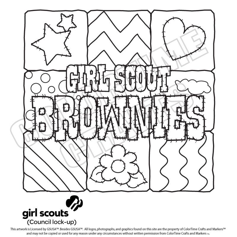 Girl scout coloring pages for brownies Girl Scouts Pinterest