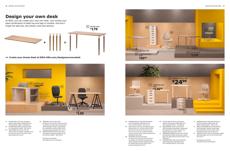Design Your Own Desk Ikea Workspaces Brochure 2019 Ikea Workspace Ikea Desk Design
