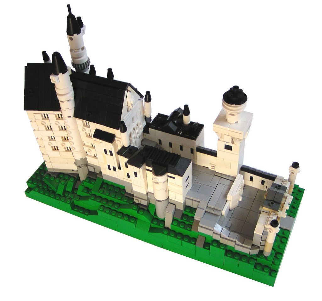 Schloss Neuschwanstein Lego Architecture Lego Creations Micro Lego
