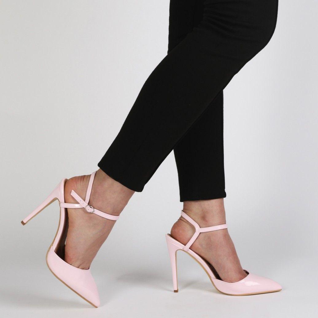 Karlie Stiletto Court Heels in Pink Patent | Accessories ...