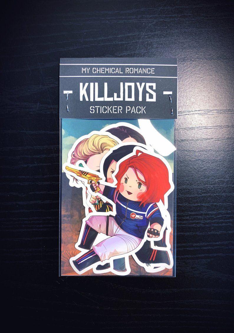 MCR My Chemical Romance Fabulous Killjoys Sticker Pack ...