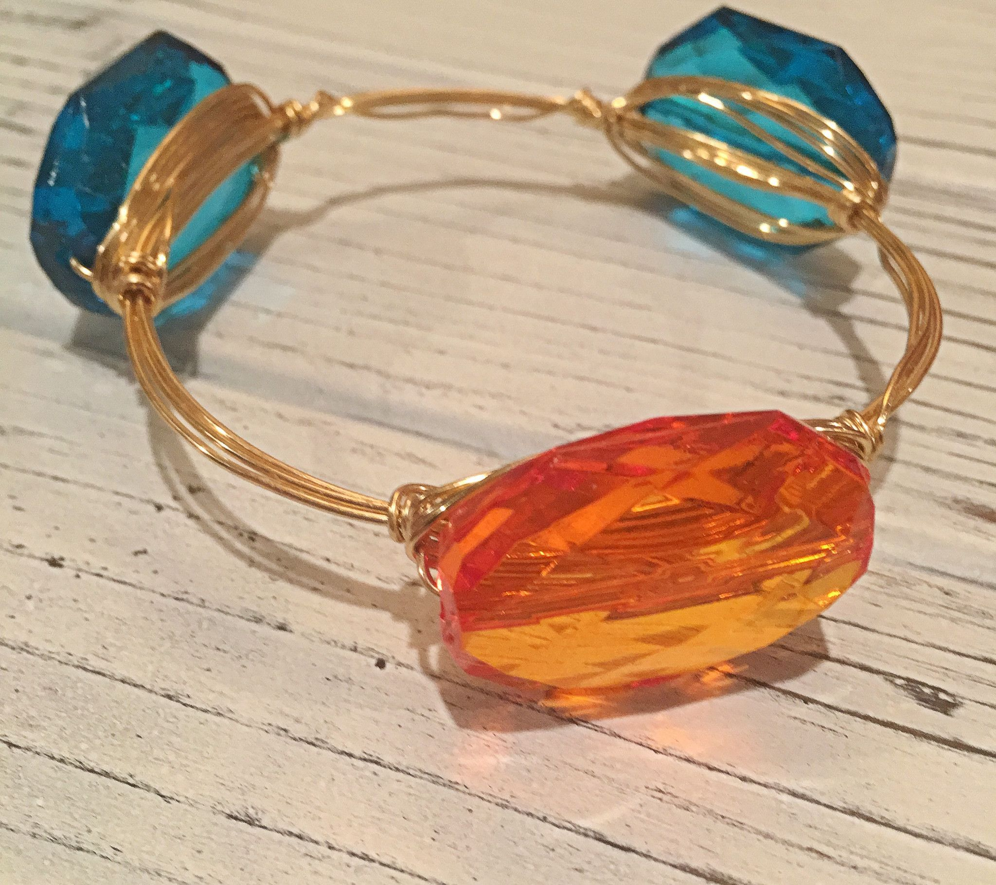 Orange/ Teal Bangle