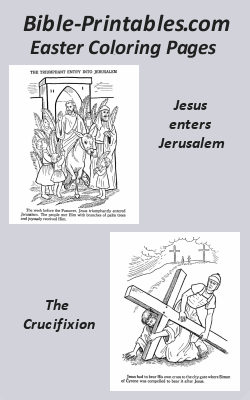 Bible-Printables.com Easter Bible Coloring Page Sheets