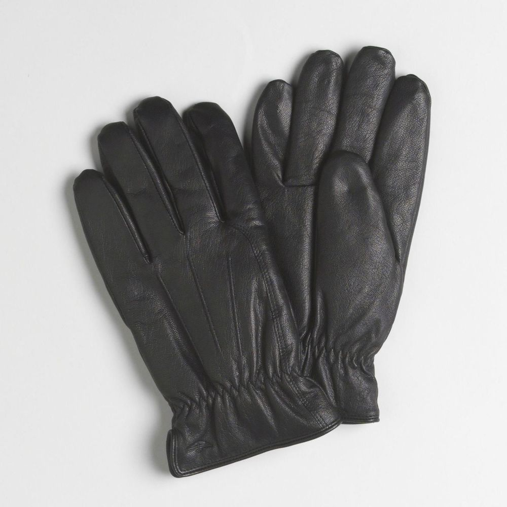 Mens black leather gloves xl - Dockers Genuine Leather Gloves Sherpa Lined Black Solid Men S Size L Xl New 24 99 Http