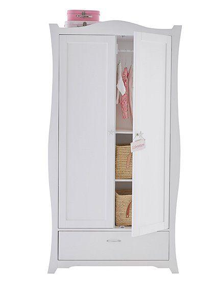 Edler Kinderschrank in weiß lackiert, mit flexibler Innenausstattung ...