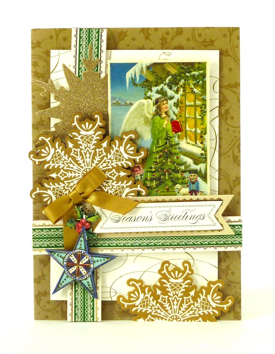 Handmade 3 dimensional christmas card from the anna griffin holiday handmade 3 dimensional christmas card from the anna griffin holiday trimmings card making kit kristyandbryce Choice Image