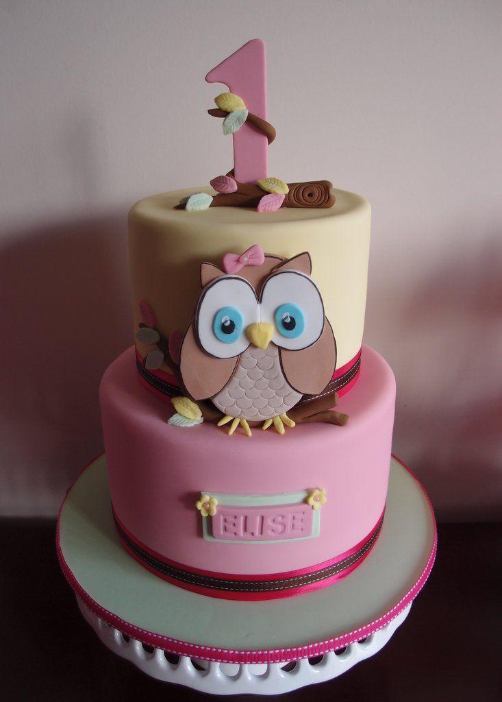 Owl Birthday Cake bizcochos infantiles Pinterest Owl birthday